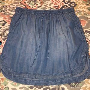 Merona Chambray Mini Skirt